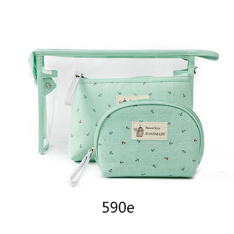 Anchors Away Cosmetic Case Trio