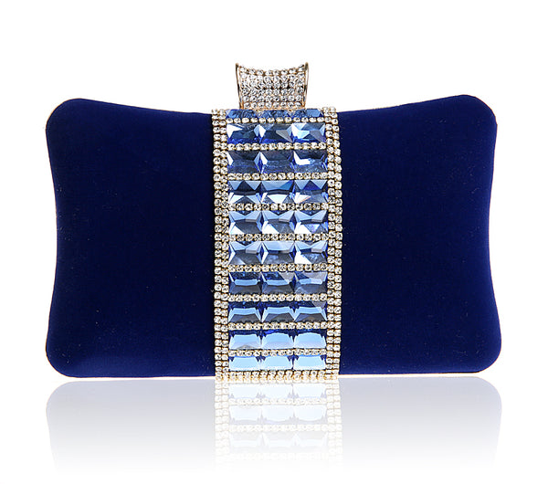 Blue Waves Evening Clutch