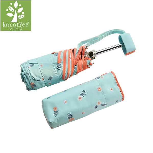 Flower Print Pocket Umbrella