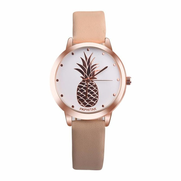 Rose Gold Pineapple Ladies Fashion Watch