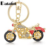 Dalaful Amazing Motorcycle Keyrings Keychains Enamel Crystal  Key Chains Holder Rings For Car Best Gift K311