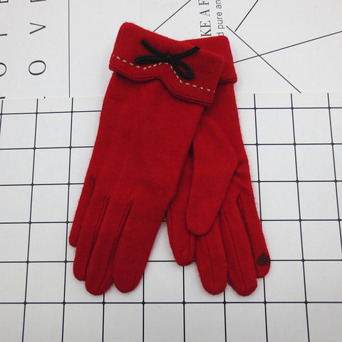 Clarissa Cashmere Gloves Red