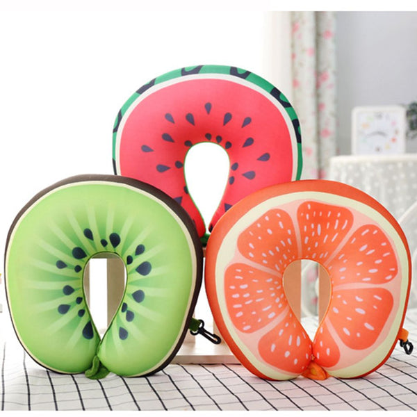 Fruit Print Travel Pillow
