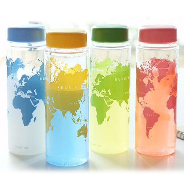 World Map Refillable Water Bottle