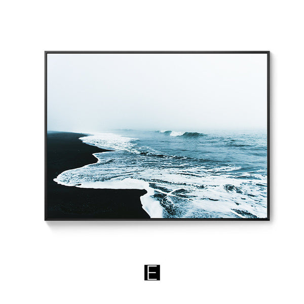 Blue Ocean Shoreline Canvas Print