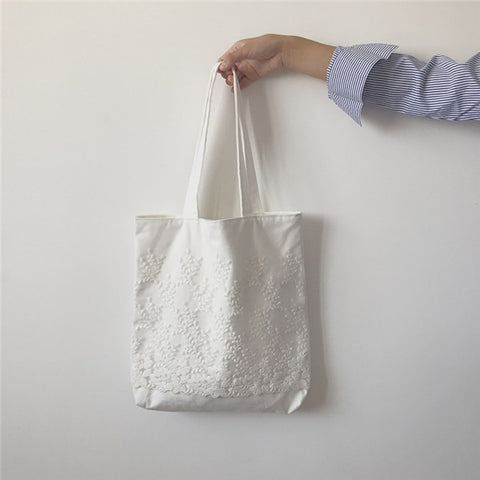 Aria Embroidered Lace Tote