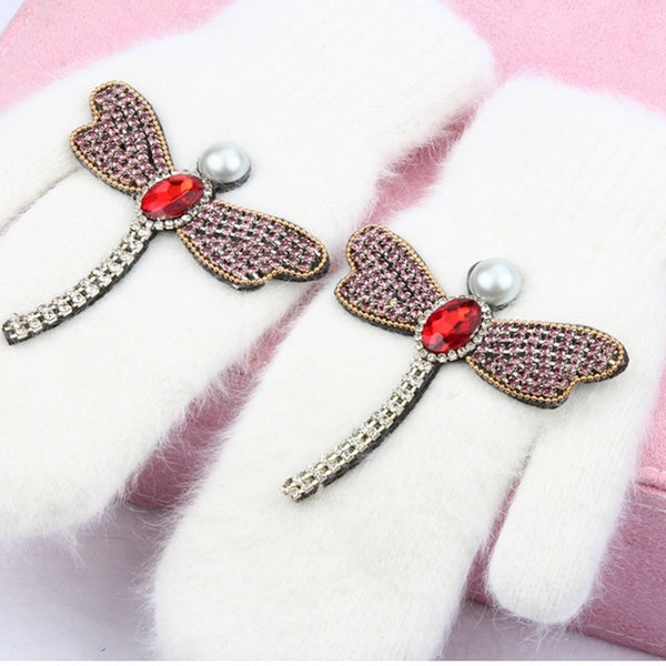 Crystal Dragonfly Mittens