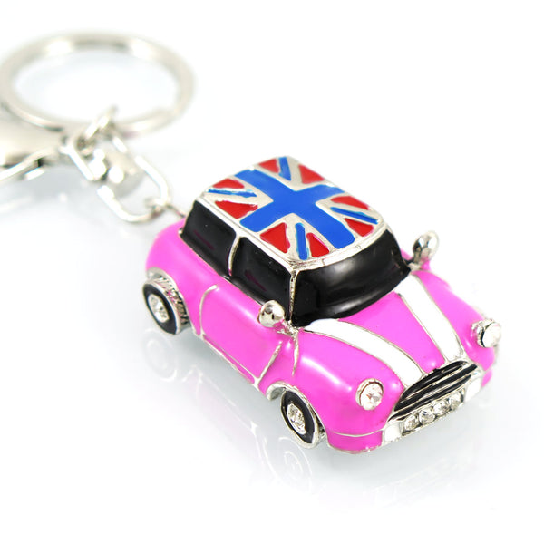 British Roadster Crystal Keychain