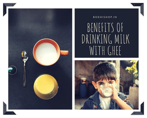 Health benefits of drinking milk with ghee at night.