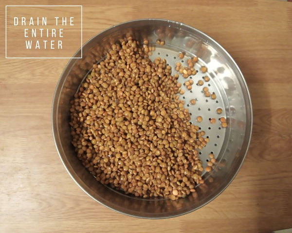 Sprouted Masoor Dal - Step 3