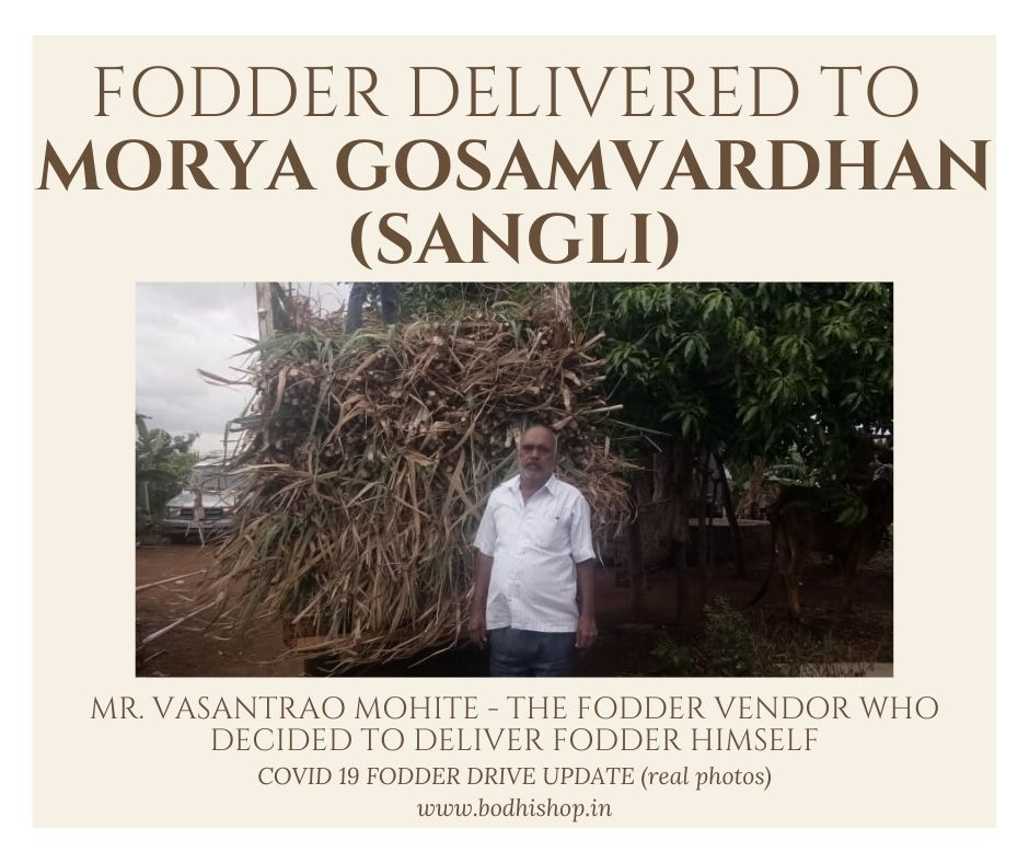 Fooder delivered to Gaushala during Covid