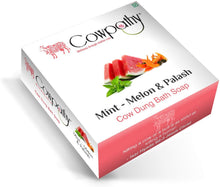 Load image into Gallery viewer, Cowpathy Mint-Melon & Palash Soap