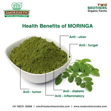 Load image into Gallery viewer, AMOREARTH Moringa Powder - Two brothers organic farms