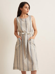 Drawstring Day Dress - Kala Cotton
