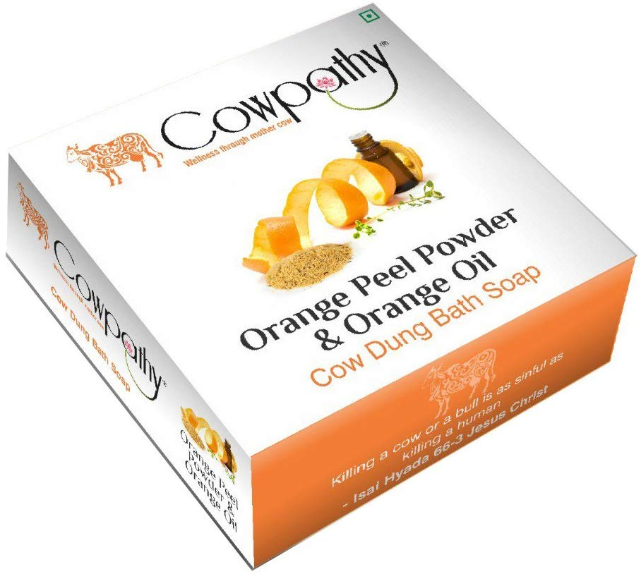 Cowpathy Orange Peel & Orange Oil Soap