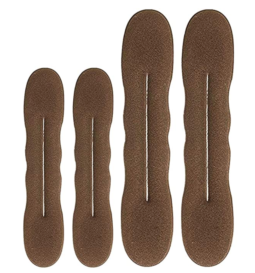 Magic Bun Maker, Foam Sponge. (4 Pack)