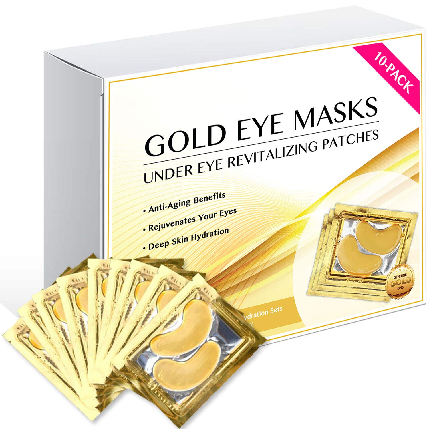 24k Gold Eye Masks Collagen Under Eye Patches