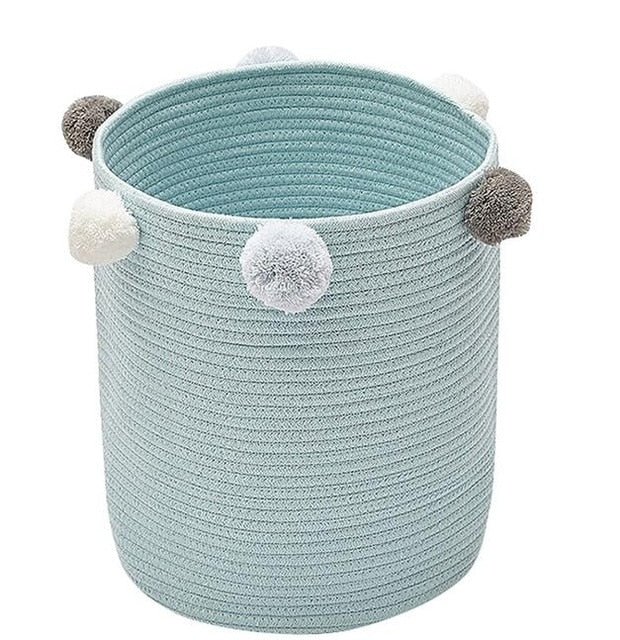 Lucia Pom Pom Storage Basket - Various Colours