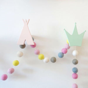 Bobbi - DIY - Wool Felt Pom Pom Garland - Various Colours