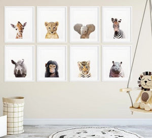 Savannah Safari Baby Animals Prints - Various Styles and Sizes