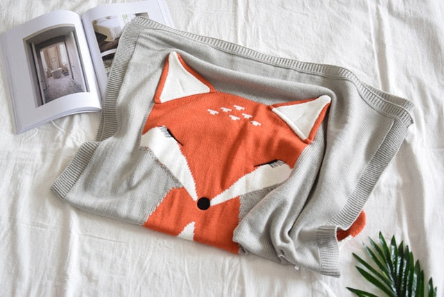 Fiona Knitted Fox Blanket