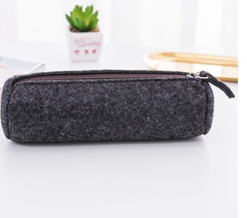 Harrison Black & Grey Felt Pencil Cases