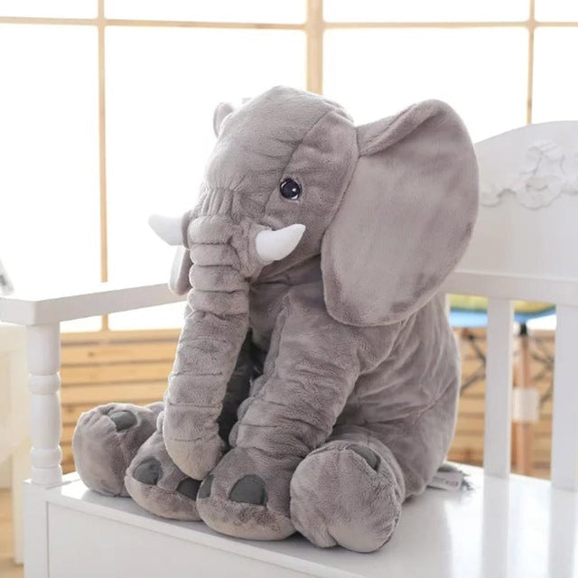 Connor grey plush elephant
