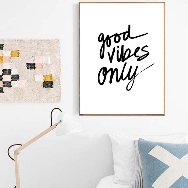 Ian Good Vibes Only Graphic Print - Various Sizes