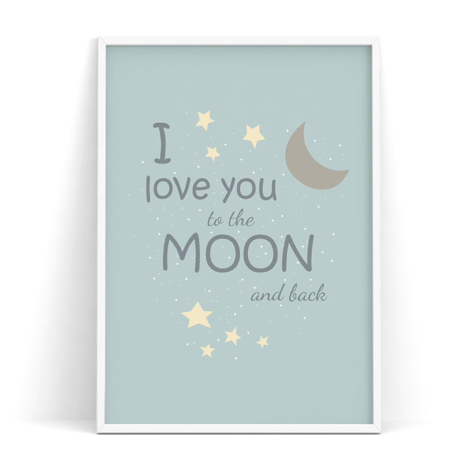 Elliot Wall Art Series - I Love You to the Moon and Back