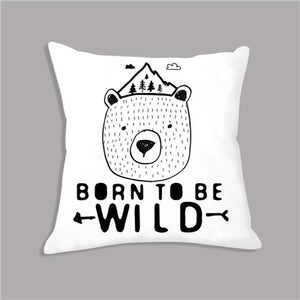 Tommy Series: Geometric Black and White Toss Cushion Covers - Various