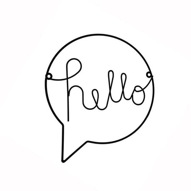 "Zoe ""Hello"" Sign Wall Art - Various Colours"