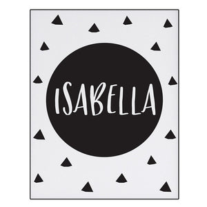 Isabella Series: Black and White Tribal Poster Art Prints