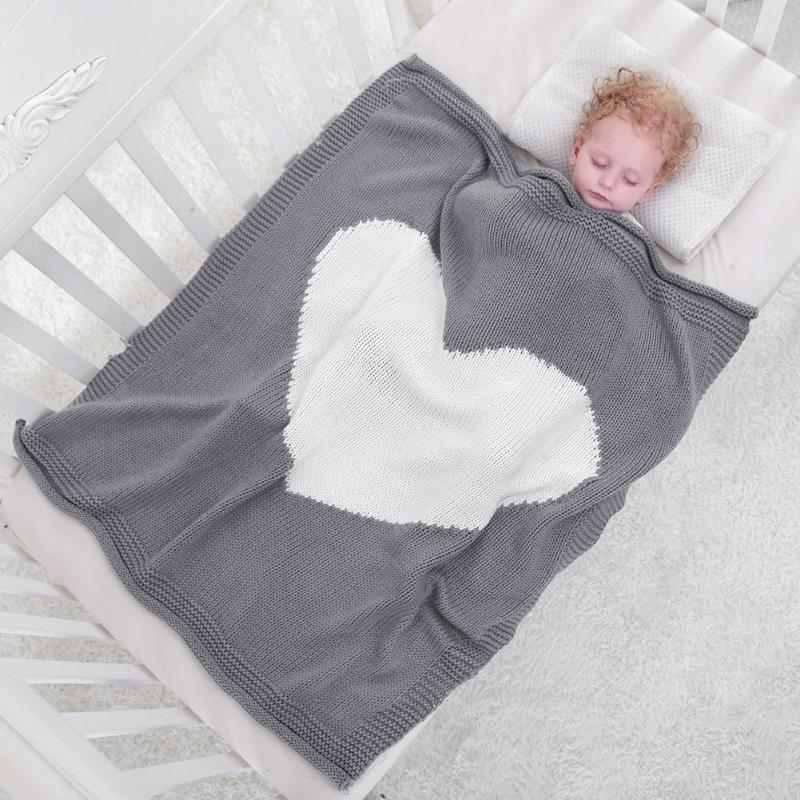 "Zara ""You have my Heart"" Knitted Blanket"