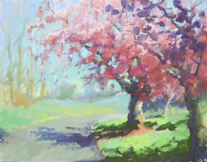 """Spring on Mt. Tabor"", 11x14 Original Oil Painting by Artist Kristina Sellers"