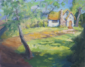 """Ivory Cottage"", 14x18  Original Oil Painting by Artist Kristina Sellers"