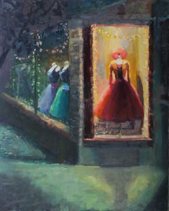 """Hot Little Number"" 30x24 original oil painting by Artist Kristina Sellers"