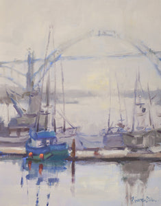 """Safe Harbor"" 14x11 Original Oil Painting by Artist Kristina Sellers"