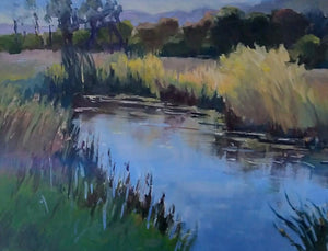 """Whispering Wetlands"" 14x18 Original Oil Painting by Artist Kristina Sellers"