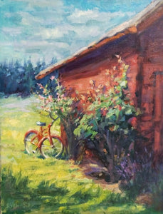 """Rustic Ride"", 20x16, Original Oil Painting by Artist Kristina Sellers"