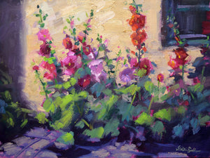 """Cottage Blooms"" Original Oil Painting by Artist Kristina Sellers"