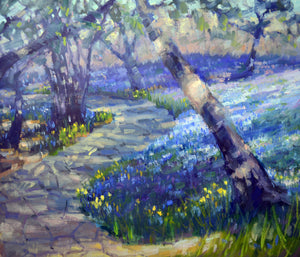 """Hyacinth Trail"" Original Oil Painting by Artist Kristina Sellers"