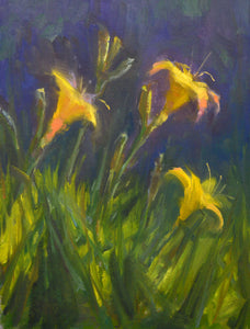 """Lillies of the Field"" Original Oil Painting by Artist Kristina Sellers"
