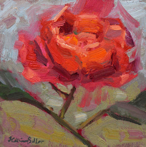 """Misty Rose"" Original Oil Painting by Artist Kristina Sellers"