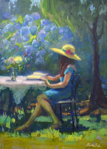 """Sun Hat"" Original Oil Painting by Artist Kristina Sellers"