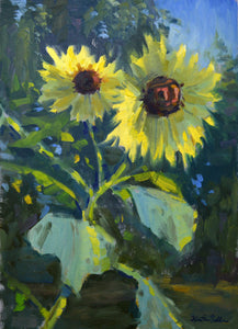 """Sunny Duo"" Original Oil Painting by Artist Kristina Sellers"