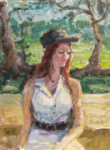"""Breanna"" 16x12 Original Oil Painting by Artist Kristina Sellers"
