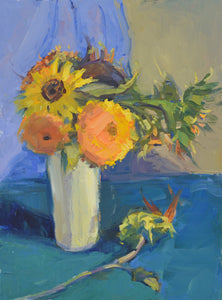 """Bright Bouquet"" 12x16 Original Oil Painting by Artist Kristina Sellers"