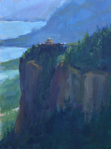 """Vista House"" 12x9 original oil painting by Artist Kristina Sellers"