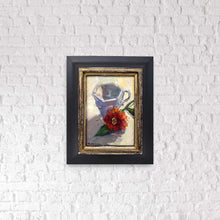 "Load image into Gallery viewer, ""Vanilla Tea"" 7x5 framed original oil painting by Artist Kristina Sellers"