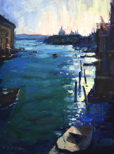 """From Rialto"" 16x12 original oil painting by Artist Kristina Sellers"